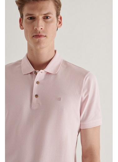 Avva Erkek  Polo Tişört A11B1174 Pembe